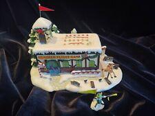 Hawthorne Village Reindeer Flight Camp with elf figure.
