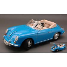 PORSCHE 356 B CABRIO 1961 BLUE 1:18 Burago Auto Stradali Die Cast Modellino