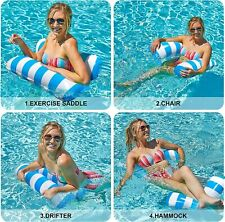 Inflatable Swimming Float Hammock Floating Pool Summer Lounge Bed adult kids toy
