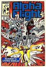 """""""ALPHA FLIGHT"""" Issue # 57 (April, 1988, Marvel Comics) JIM LEE art"""