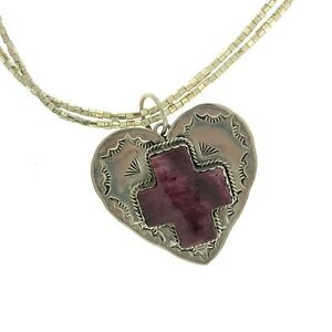 Southwestern Dan Dodson Purple Sugilite Heart Angel Appliqué Christin Wolf Beads