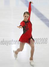 Ice Skating Dress. Red Figure Skating.Acrobatics Baton Twirling Dance Costume