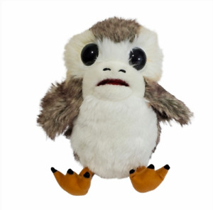 Disney Star Wars Action Plush Porg Voice Toy Wings Mouth Move Last Jedi