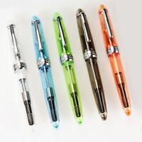 5pcs JINHAO 992 Fine Nib Fountain Pens Transparent Pen Screw Cap