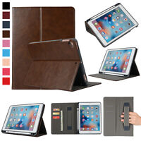 Luxury PU Cover Pencil Holder Case for iPad 6th Generation iPad 5th Generation