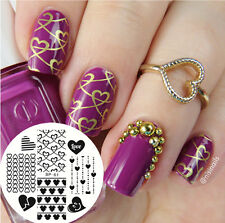 Nail Art Stamping Plate New Pattern Love Heart  Image Template BP61 BORN PRETTY