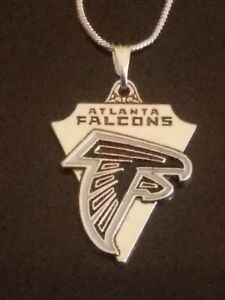 Atlanta Falcons Necklace Pendant Sterling Silver Chain NFL Football
