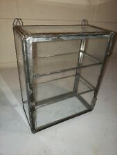 Antique Miniature Display Case With 2 Original Glass Shelves ~ Country Store