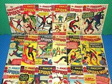 Amazing Spider-Man #1-18 Vol.1 Marvel Reprint Cover Lot w/Orig Ads Keys !READ!