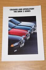BMW 3 Series Colour & Upholstery Sales Folder 1991