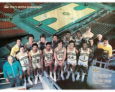 1978-79 SEATTLE SUPERSONICS NBA CHAMPIONS 8X10 COLOR TEAM PHOTO SIKMA JOHNSON