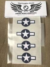 """Us Air Force Roundel Insignia Vinyl Decal Sticker Rc Airplane Aircraft Wwii 2"""""""