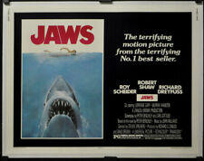 JAWS 1975 AUTHENTIC 22X28 ROLLED LINENBACKED MOVIE POSTER ROY SCHEIDER