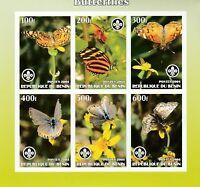 Schmetterlinge+Blumen Benin postfrisch 599