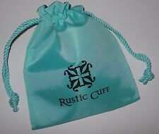 1 - RUSTIC CUFF TURQUOISE  BRACELET JEWELRY STORAGE GIFT BAG #6652