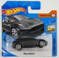 Hot Wheels Tesla Model 3 Grey Factory Fresh New 2020