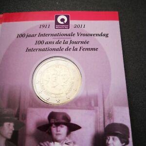 Coincard 2 euro commémorative Belgique 2011 - 100 ans Journée de la Femme - Neuf