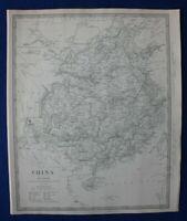 CHINA, HAINAN, FORMOSA (TAIWAN), original antique map, SDUK, 1844