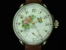 Antique 1890 Waltham A.W.W.Co Wrist watch with Factory Custom Painted Dial