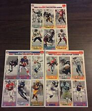 1993 McDonalds NFL GameDay Limited Edition Set Of 3 Sheets