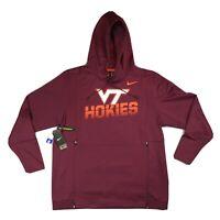 Nike Virginia Tech Hokies VT Therma Hoodie On Field Men's Large AR9700-669