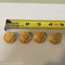 Set of 4 U.S Waterbury ASU Dress Blues Buttons Men's Jacket Coat Front Gold USA