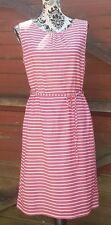 💙Quirky WHITE STUFF Pink/White Candy Stripe Dress, Belt, Size 12💙