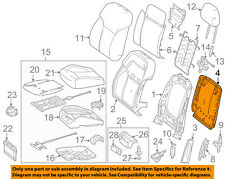 Mercedes MERCEDES-BENZ OEM ML350 Front Seat-Seat Back Panel Trim 16691000039H23
