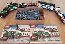 Lego 10173 tren de árbol de Navidad muy raro con instrucciones completas