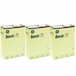 GE 41030 75-Watt 1170-Lumen A19 Basic Light Bulb 4 Bulbs Each Pack (3-6-12 pack)