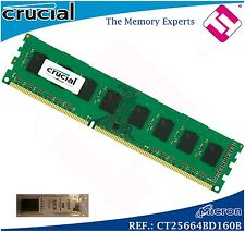 Crucial 2gb Ddr3l 1600 Mt/s Pc3-12800 UDIMM 240pin