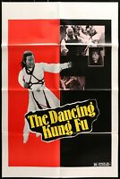 THE DANCING KUNG FU / THE CAVALIER Grindhouse 1979 1-SHEET MOVIE POSTER 27 x 41