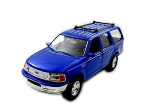 1998 FORD EXPEDITION METALLIC BLUE ,WELLY 1/32 DIECAST CAR COLLECTOR'S MODEL