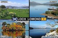 SOUVENIR FRIDGE MAGNET of LOCH LOMOND SCOTLAND