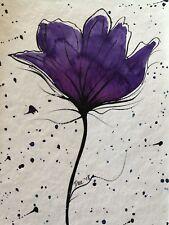 Original watercolour art, flower, framed affordable art