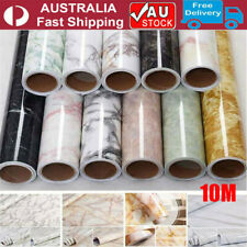10M Marble Self Adhesive Wall Stickers Kitchen Cabinet Waterproof Oil Proof PVC