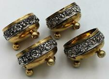 More details for victorian elkington & co gilt brass & silver plate salt cellars 1870