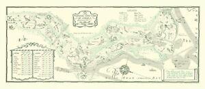 "National Golf Links--23"" x 11"" a VintageGolfCourseMaps print"