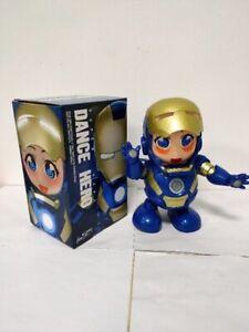 Dancing Iron Man Figure Hero Marvel Avengers Infinity War Electric Sound Toy LED
