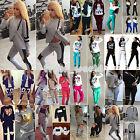 Womens Ladies Long Sleeve Loungewear Hoodies Jogging Tracksuit Sweatshirt Pants