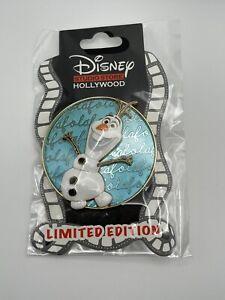 Disney Studio Store Hollywood DSSH Olaf Cursive Cutie LE 400 Pin DSF Frozen