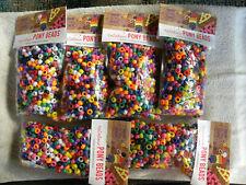 Lot of 4500 Rainbow Pony Beads 9mm Art Craft Supplies Bulk - New-Eb26