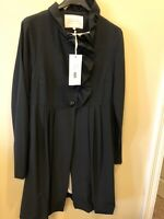 Anthropology Wendy Katlen Size 10 Suiting Jacket New With Tags Black Bubble Hem