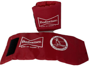 Lot of 2 BUDWEISER BEER CAN WRAP COOLERS KOOZIE St. Louis Cardinals Wrap