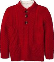 Cat & Jack Toddler Boys' Long Sleeve Pullover Sweaters Red Velvet 12 Months New