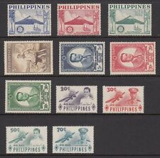 (RP55) PHILIPPINES - 1955 COMPLETE YEAR STAMP SETS. MUH