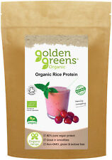 Greens Organic 100% Pure Wholegrain Rice Protein Powder, 250g, 80% Protein