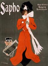 ART DECO  SAPHO REPRODUCTION VINTAGE STYLE A3 ADVERTISING POSTER NEW