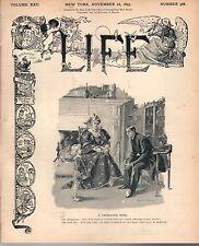1893 Life November 16 - New York Horse Show; Sad affairs in Kansas; Fishing