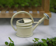 Miniature Dollhouse FAIRY GARDEN Accessories ~ Cream Tin Watering Can ~ NEW